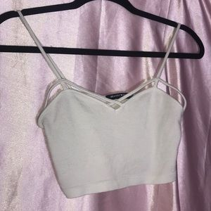 Brand Melville White Lace Crop Top